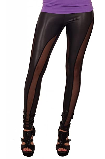 419d1d74feaf8 Mesh Panel Sexy Comfortable Fashion Tights Fitted Pants Trendy Leggings:  Amazon.ca: Clothing & Accessories
