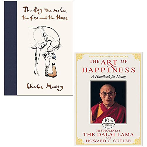 Book cover from The Boy, The Mole, The Fox and The Horse By Charlie Mackesy & The Art of Happiness By Dalai Lama 2 Books Collection Set by Charlie Mackesy