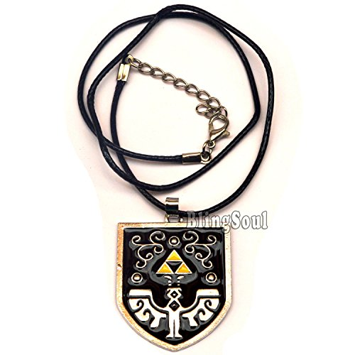 The legend of Zelda Logo Necklace Jewelry - Halloween cosplay costume prop ideas - Sam And Dean Halloween Costume