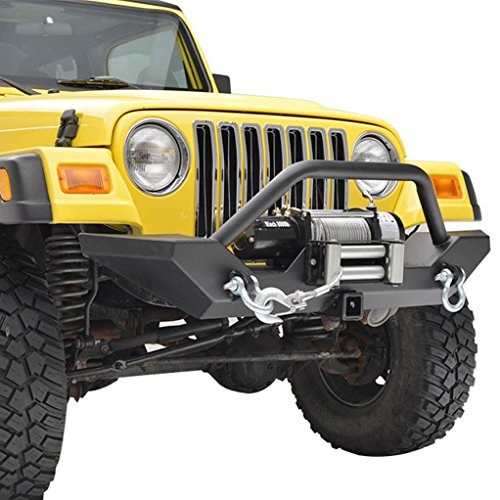 E-Autogrilles-87-06-Jeep-Wrangler-TJYJ-Heavy-Duty-Rock-Crawler-Front-Bumper-with-Winch-Plate-Receiver-Hitch-51-0052