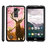 LG Premier LTE Case | LG K10 Cover, Stylish Personalized Protective Snap On Hard Case Phone Protector by Miniturtle® - Pink Deer Stag