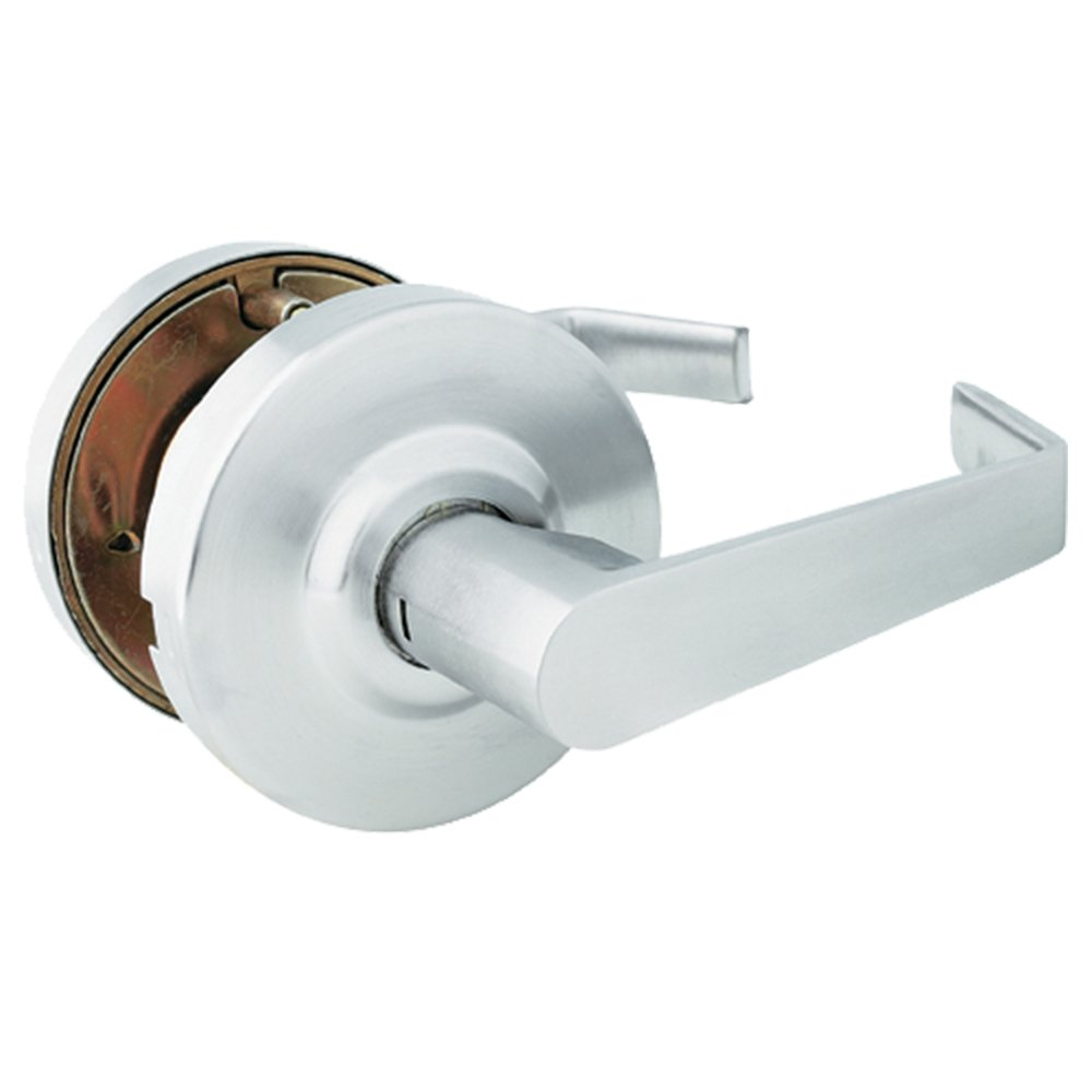 Global Door Controls Brushed Chrome Eiffel Style Commercial Passage Leverset with Removable Bolt by Global Door Controls