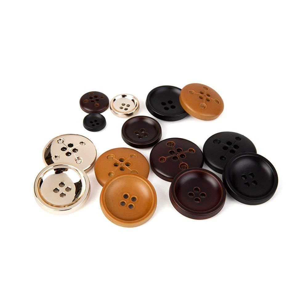 Nubstoer Lot de 12 Boutons Ronds /à 4 Trous pour Manteau 28 mm