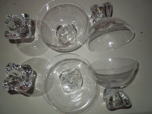Set Sherbert (Crystal Sherberts/Champagnes with Bubble Bottoms(set of 6))