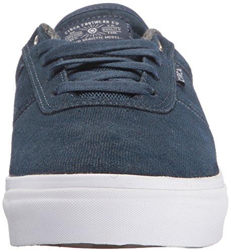 C1RCA Gravette, Sneaker Basse Unisex - Adulto Denim/White