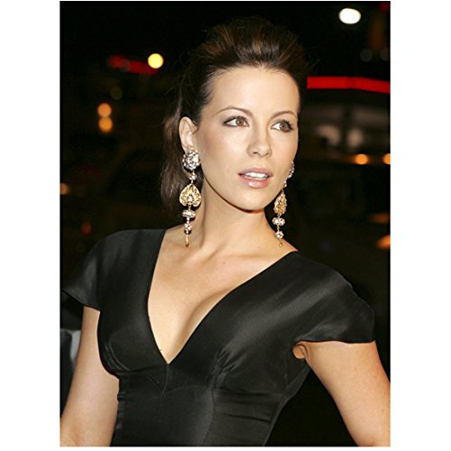 Kate Beckinsale in Satin Black Short Sleeves Low Cleavage 8 x 10 inch photo
