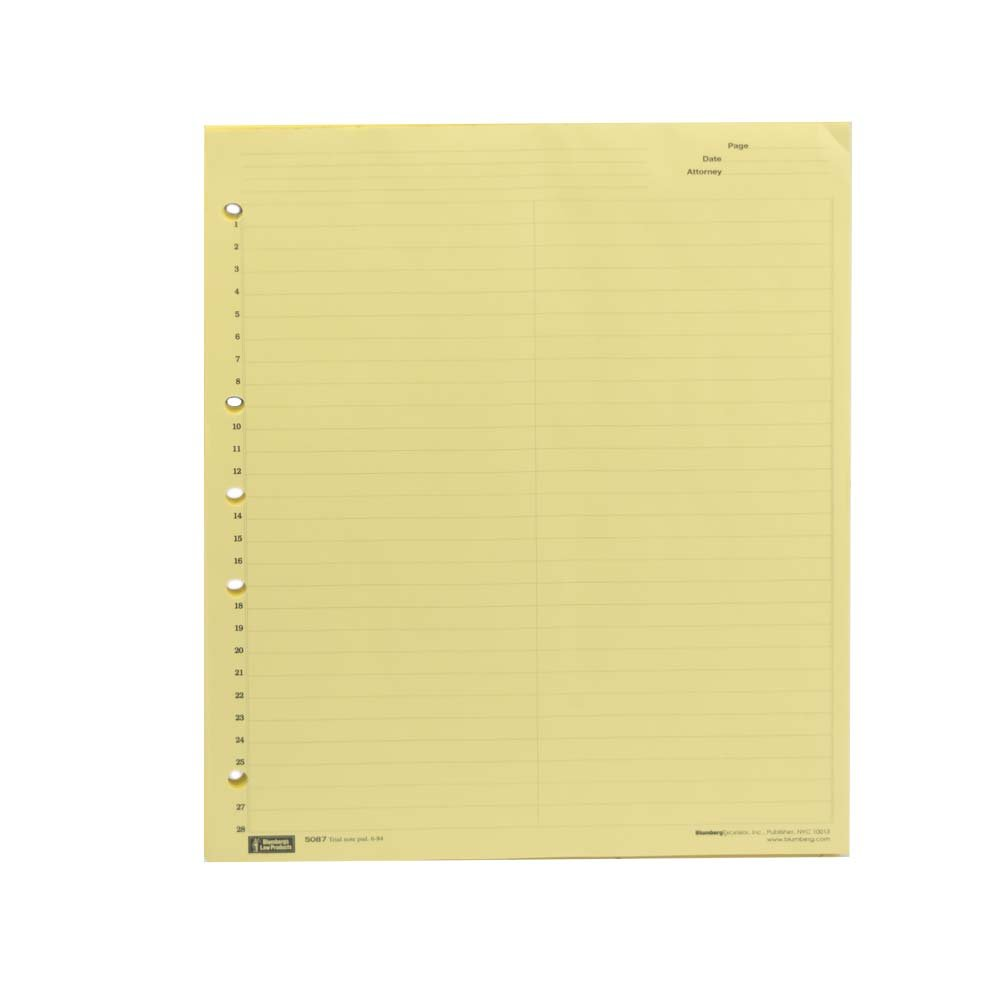 Blumberg Trial Note Pad Litigation Ruled Numbered 1-28 (12 pads)