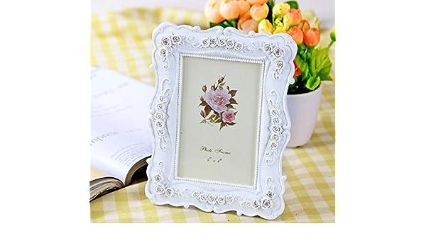 HBJ Living comedor hogar continental creativo foto marco estudio boda foto estudio de portaretrato resina jardín color de rosa , 10 inch: Amazon.es: Hogar
