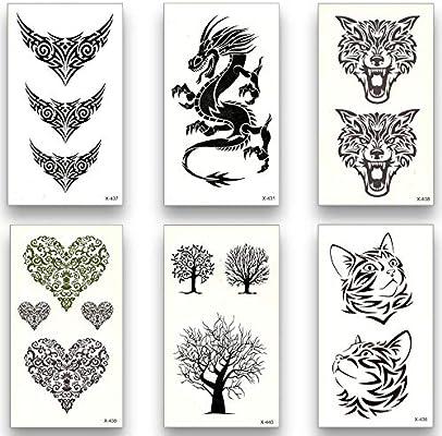 Tatuajes Temporales Niñas 12 Hojas Temporal Tatuaje Falso ...