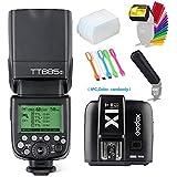 Godox Thinklite TT685S TTL High Speed Sync 1/8000s GN60 Camera Flash Speedlite Light + X1S Wireless Trigger Transmitter for Sony Cameras + CONXTRUE USB LED Free gift
