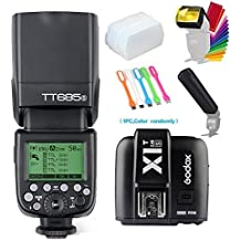 Godox Thinklite TT685S TTL High Speed Sync 1/8000s GN60 Camera Flash Speedlite Light + X1T-S Wireless Trigger Transmitter Compatible for Sony Cameras+Diffuser &Filter&Snoot+USB LED