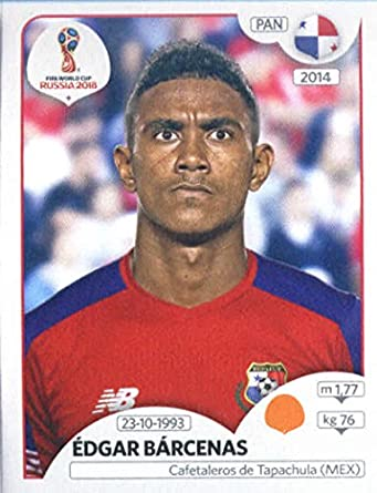 2018 panini world cup stickers russia 544 edgar barcenas panama soccer sticker