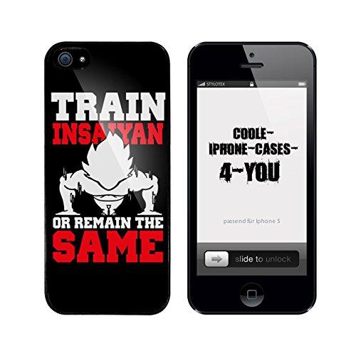 Iphone 5 / 5S Schutzhülle Train Insaiyan - schwarzer Rahmen