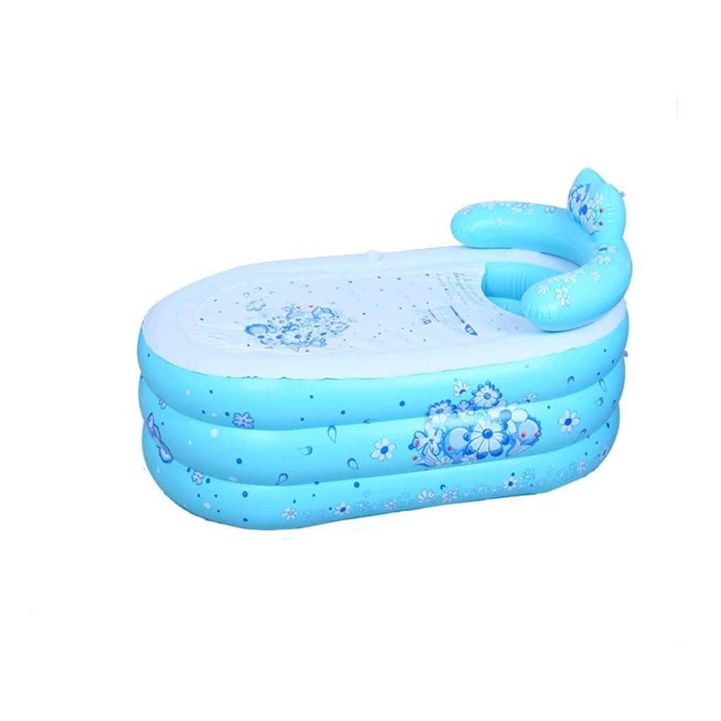 WYP Bathtub Inflatable PVC, Foldable Bathtub Thicken Adult Bathtub/Bath Plastic (Color : B, Size : S)