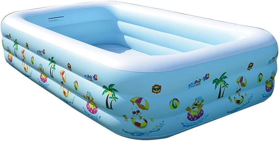 WH SHOP Piscina Familiar Hinchable Swim Center, Piscinas Desmontables Rectangulares para Niños, Piscina Portátil Water Fun Beach Party - 260 / 305CM: Amazon.es: Hogar