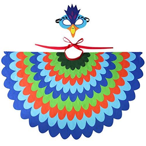 Parrot/Owl Wings Cape, Bird Wings Costume Accessories, Chiffon Cloak Costumes, Props Cloak Halloween ()