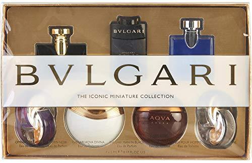 Bvlgari Variety Mini EDT & EDP 7 Pc. Set, Omnia Amethyste, Jasmine Noir, Aqua Divina, Man In Black, Aqua Amara, Blv Pour Homme, Omnia Crystalline .17 ()