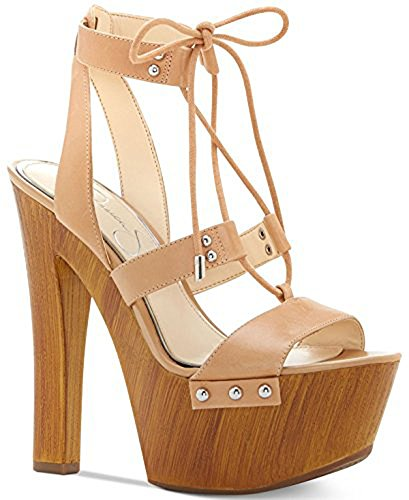 Jessica Open Simpson Platforms Toe (Jessica Simpson Womens Doreena Leather Open Toe Special, Buff, Size 10.0)