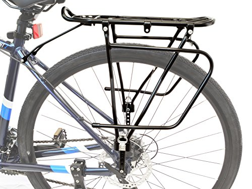 Lumintrail Bicycle Rear Frame Mounted Cargo Rack for Disc Bikes Height Adjustable Commuter Carrier by Lumintrail (Image #3)