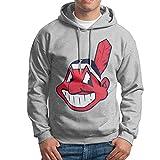 ACFUN Men's Cleveland Baseball Team Logo Sweater Ash