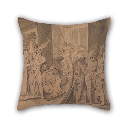 Slimmingpiggy Throw Pillow Covers Of Oil Painting James Jefferys - The Body (Reed Roman Tub)