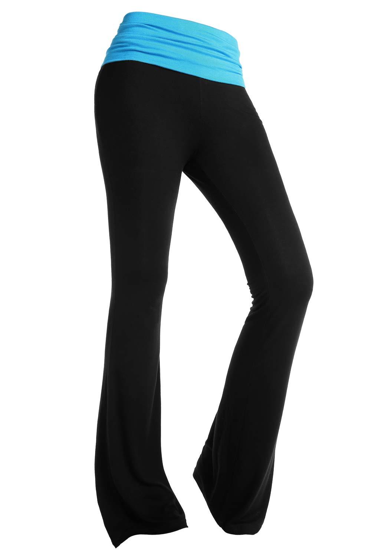 BaiShengGT Women's Boot Cut Color Block Long Lounge Yoga Sport Leggings Pants