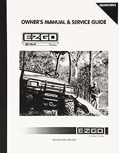 EZGO 6020802005Owners Manual y Servicio guía para gasolina con utilidad vehículo