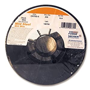 US Forge Welding Solid Mild Steel MIG Wire .030 10-Pound Spool #00664