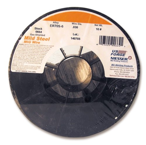 US Forge Welding Solid Mild Steel MIG Wire .030 10-Pound Spool #00664 ()