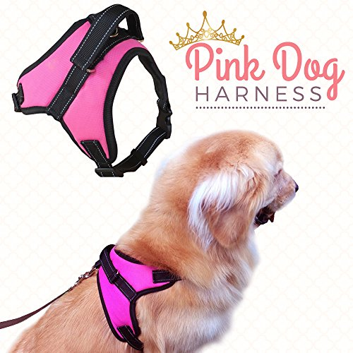 pink padded dog harness - 6