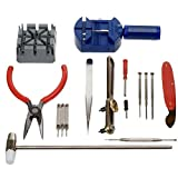 MMOBIEL 16 PCS Watchmaker Jewelry Repair Tool Kit Incl. Band Pin Link Remover, Back Case Opener