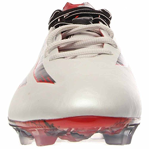 adidas Mens Messi 10,1 FG Firm Ground Soccer Cleat White/Granite/Scarlet