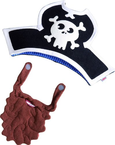 HABA Captain Charlie Hat and Beard - Pirate Themed Costume Accessory for Ages 3 - 6