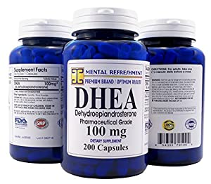 Mental Refreshment Nutrition DHEA 100 mg Dietary Supplement - 200 Capsule