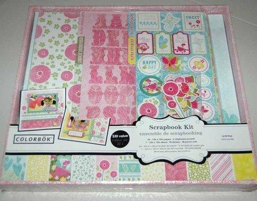 Colorbok Bright Floral Scrapbook Kit (Scrapbook Kit Colorbok)