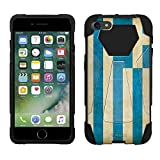 Apple iPhone 7 Hybrid Stand Case Greek Vintage Flag 2 Piece Style Silicone Cover with Stand for Apple iPhone 7
