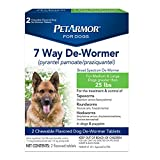PetArmor 2 Count 7 Way Wormer Capsules for Dogs, Large