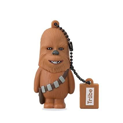 Llave USB 8 GB Chewbacca - Memoria Flash Drive 2.0 Original Star Wars, Tribe FD007405