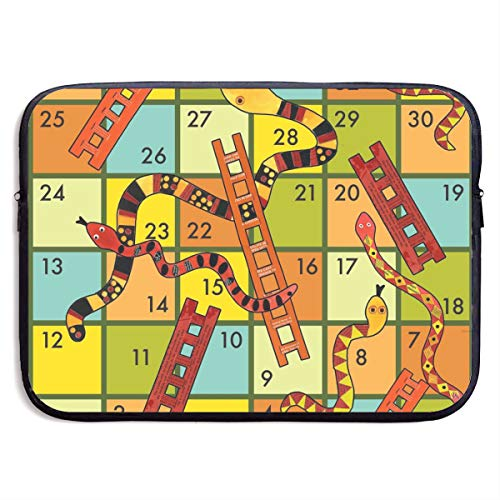15 Inch Laptop Sleeve Case Winning A Snakes and Ladders Game Laptop Computer Case Cover Waterproof Neoprene Notebook Tablet Protective Briefcase Carrying Bag,Shock Resistant