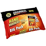 hot packs for gloves - Grabber Hand Warmers - Long Lasting Safe Natural Odorless Air Activated Warmers - Up to 7 Hours of Heat - 10 Pairs