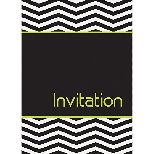 Designer Chevron Invitations, 8ct -