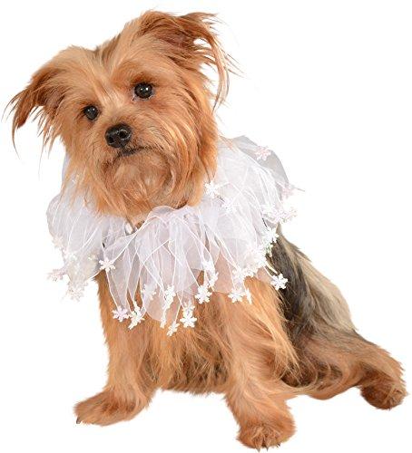 Rubie's Christmas Pet Collar, Small to Medium, White Snowflakes (Snow White Dog Costume)