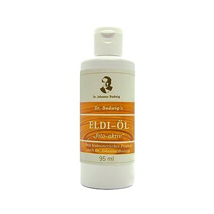 Dr. Budwig ELDI Oil Photoactive - 95 ml - Producto biocosmético puro de Dr Johanna Budwig para masajes ...