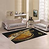 AnnHomeArt guitar Area Rug Modern Carpet7'x5'