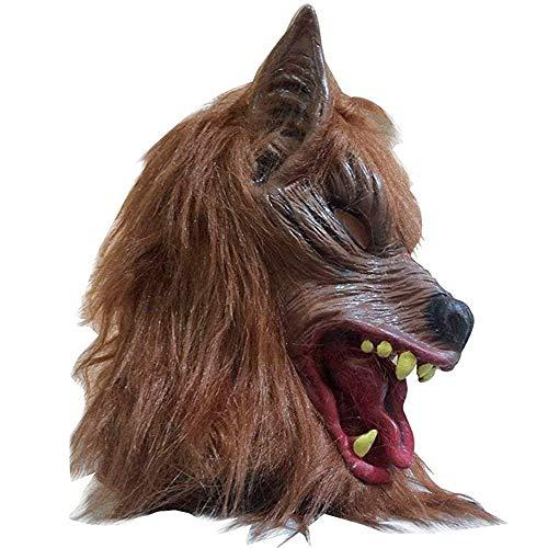 Halloween Horror Nights Werewolf (SUPOW Halloween Wolf Mask, Costumes Creepy Scary Full Face Werewolf Mask for Halloween and Cosplay Costume Party Horror Nights)