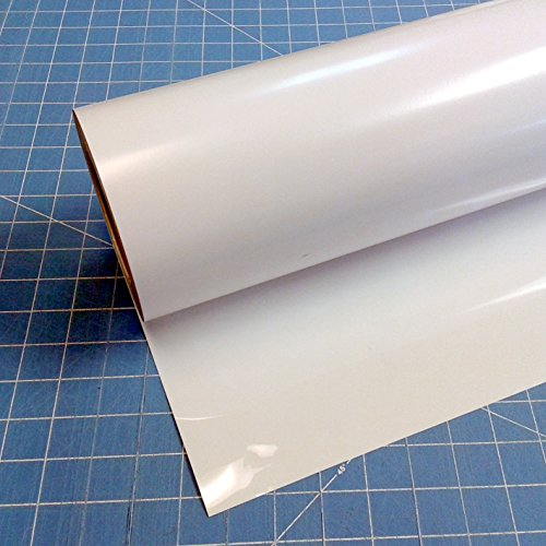 Siser Easyweed White 15'' (inch) rolls of Iron on Heat Transfer Vinyl, HTV Coaches World (90 Feet) by Siser Easyweed