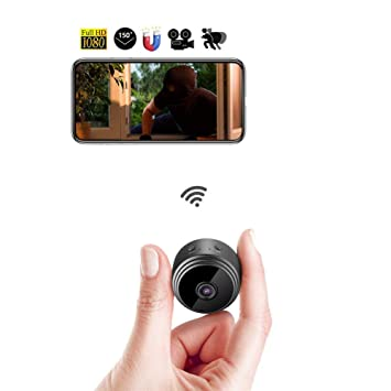 Balscw-J Cámara Oculta de WiFi Mini espía cámara IP inalámbrica HD 1080P 150 °