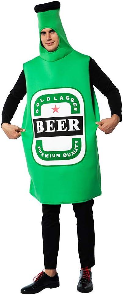 EraSpooky Disfraz de Botella de Cerveza Unisex Disfraz Fiesta de ...