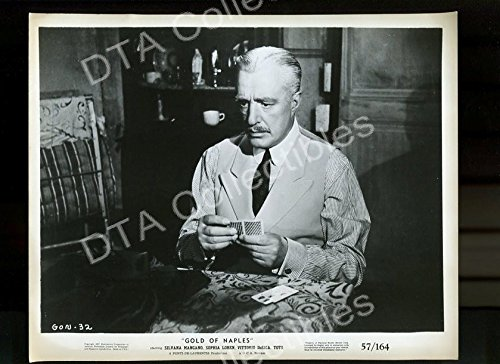 MOVIE PHOTO: GOLD OF NAPLES-8x10 PROMOTIONAL STILL #32-PLAYING CARDS FN