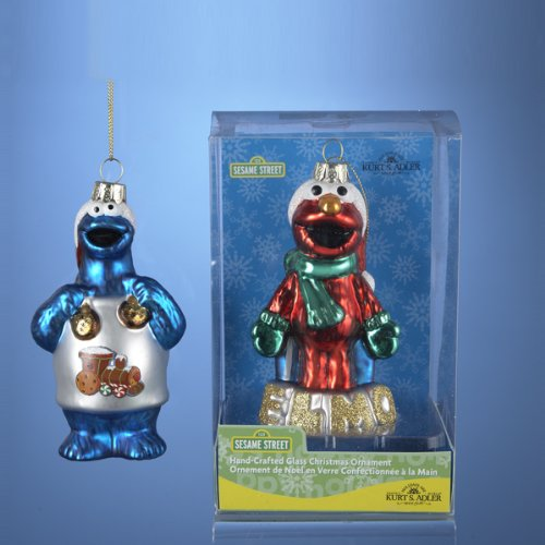 Set of Sesame Street Christmas Ornaments